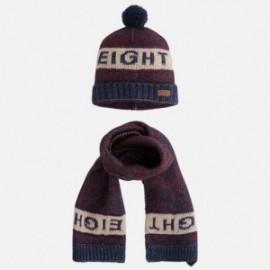 Mayoral 10260-24 Komplet czapka szalik kolor bordo