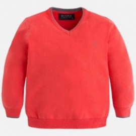 Mayoral 315-59 Sweter bawełna basic kolor koral