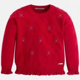 Mayoral 4313-10 Sweter strass kolor Czerwony