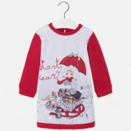 Mayoral 4963-17 Sukienka pejzaż śnieg kolor Czerwony