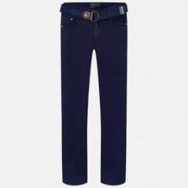 Mayoral 7521-94 Spodnie super slim z paskiem kolor granat
