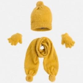 Mayoral 10293-70 Komplet czapka szalik rękawiczki kolor Bursztyn