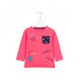 Losan 726-1022AD-075 bluzka długi rękaw kolor róż