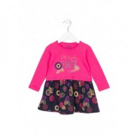Losan 726-7003AD-642 sukienka kolor granat/róż