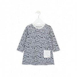 Losan 726-7011AD-300 sukienka kolor szary