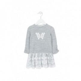 Losan 726-7791AD-717 sukienka długi rękaw dzianina kolor szary melanż