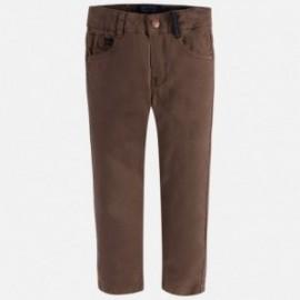 Mayoral 4511-50 Spodnie serża elastan kolor Brąz