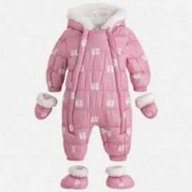 Mayoral 2613-32 Kombinezon dla dziewczynki na zimę z nadrukiem kolor Roż
