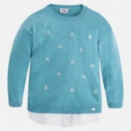 Mayoral 4325-44 Sweter trykot koszulkowy kolor Ocean