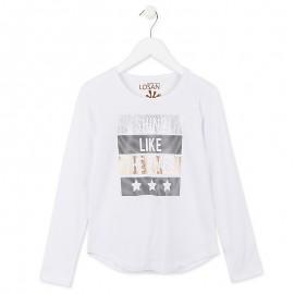Losan 724-1201AB-001 bluzka długi rękaw kolor biały