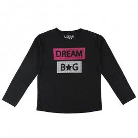 Losan 724-1209AB-063 bluzka długi rękaw kolor czarny