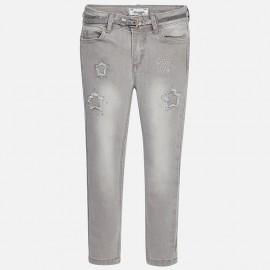 Mayoral 4547-56 Spodnie długie gwiadki kolor Jasn.szary