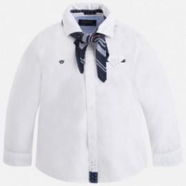Mayoral 4135-46 Koszula d/r detale chustka kolor Biały