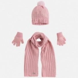 Mayoral 10292-64 Komplet czapka szalik rękawic kolor Guma do żucia