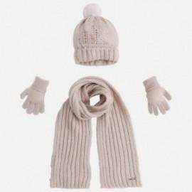 Mayoral 10292-65 Komplet czapka szalik rękawic kolor Marcepan