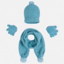 Mayoral 10293-71 Komplet czapka szalik rękawic kolor Ocean