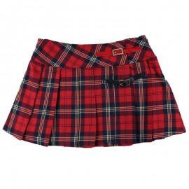 Dr.Kid DK417/O17 spódnica krata na podszewce kolor czerwony