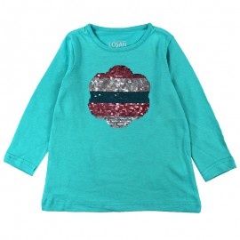 Losan 726-1203AD-226 bluzka cekiny kolor turkus