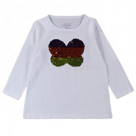 Losan 726-1203AD-001 bluzka cekiny kolor biały