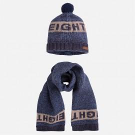 Mayoral 10260-26 Komplet czapka szalik kolor niebieski