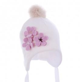 Pupil czapka Vega 14 kolor krem/róż