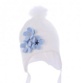 Pupil czapka Vega 14 kolor krem/niebieski