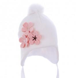 Pupil czapka Vega 14 kolor krem/łosoś