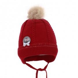 Pupil czapka Tonia 17 kolor czerwony