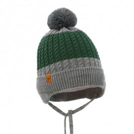 Pupil czapka Teodor 24 kolor popiel/zielony