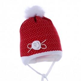 Pupil czapka NELLA 30 kolor czerwony