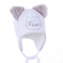 Pupil czapka MRUMRU 34 kolor biały