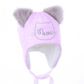 Pupil czapka MRUMRU 34 kolor róż