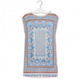 Mayoral 6916-10 Sukienka dzianina mozaika kolor Papaja