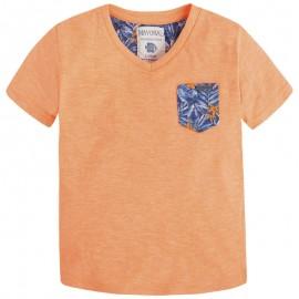 Mayoral 3030-10 Koszulka k/r detale kolor Papaja