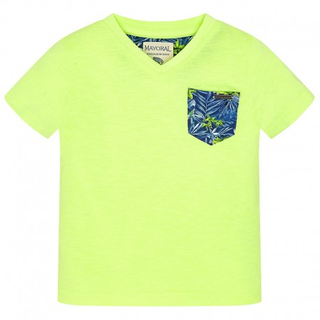 Mayoral 3030-11 Koszulka k/r detale kolor Kwaśny