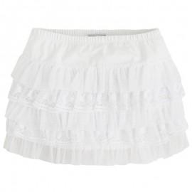 Mayoral 3916-63 Spódnica z falbankami kolor Biały