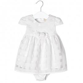 Mayoral 1848-95 Sukienka vichy kolor Biały