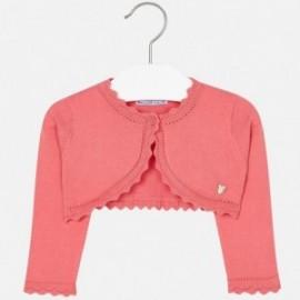 Mayoral 306-87 Sweter dziewczęcy rozpinany kolor Koralowy