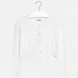Mayoral 332-33 Sweter dziewczęcy rozpinany kolor Biały