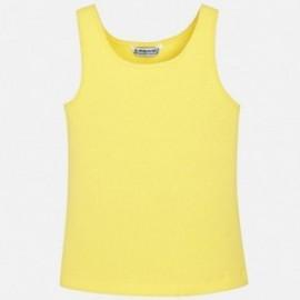 Mayoral 858-84 Koszulka dziewczęca na ramiączkach kolor żółty