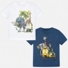 Mayoral 1060-46 Komplet 2 koszulki krótki rękaw animals kolor biały/niebieski