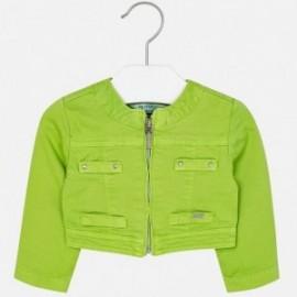 Mayoral 1426-25 Krótka dziewczęca kurtka kolor zielony