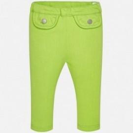 Mayoral 1530-78 Spodnie dziewczęce długie kolor zielony