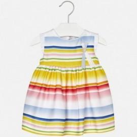 Mayoral 1952-3 Sukienka dziewczęca paski kolor Żółty