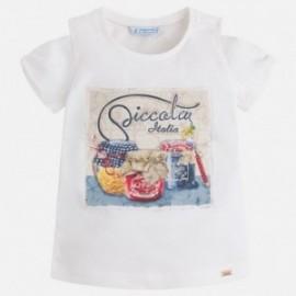 Mayoral 3014-48 Koszulka dziewczęca kolor Kremowy