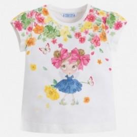 Mayoral 3016-57 Koszulka dziewczęca k/r lalka kwiatki kolor Kiwi