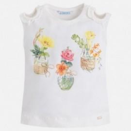 Mayoral 3030-83 Koszulka dziewczęca kolor Kremowy