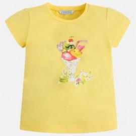 Mayoral 3032-88 Koszulka dziewczęca krótki rękaw grafika kolor żółty