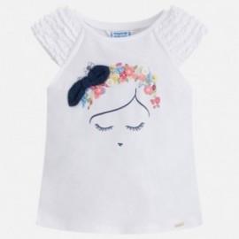 Mayoral 3046-76 Koszulka dziewczęca na ramiączkach kolor Biały