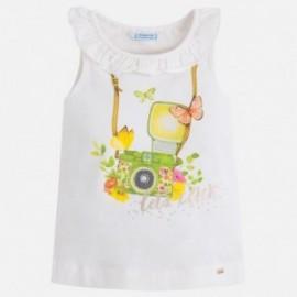 Mayoral 3048-27 Koszulka dziewczęca na ramiączkach kolor Kiwi